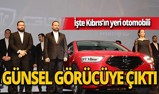 Kıbrıs yerli otomobilini tanıttı