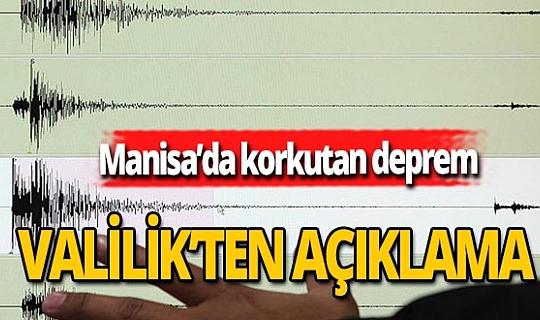 Manisa Valiliği'nden deprem açıklaması