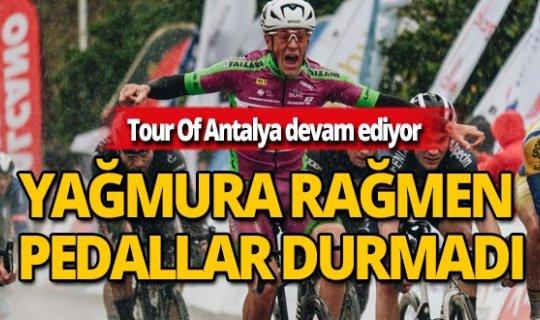 Tour of Antalya yağmura rağmen hız kesmedi