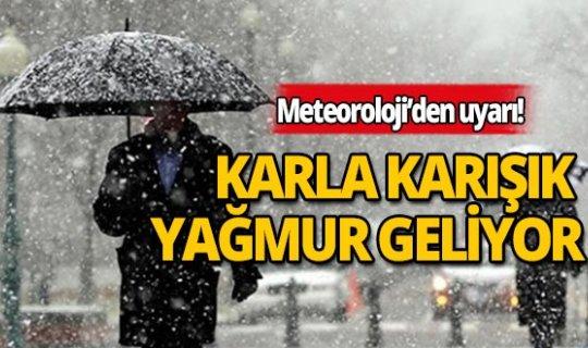 Soğuklar devam ediyor: Karla karışık yağmur geliyor!