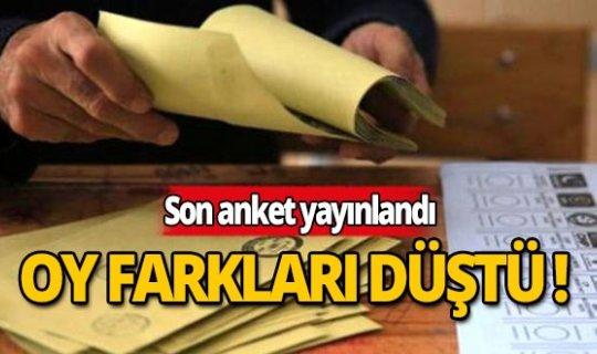 Son anket yayınlandı: İki parti baraj sınırında!