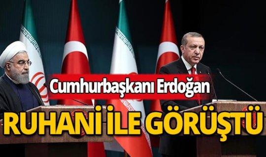 Son dakika: Cumhurbaşkanı Erdoğan, İran Cumhurbaşkanı Ruhani ile görüştü