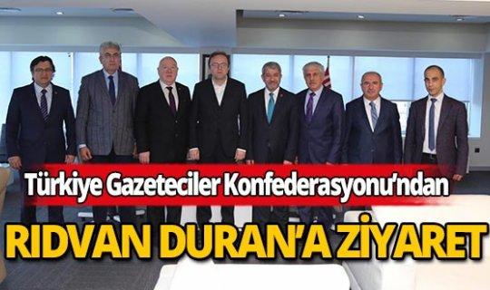 TGK'dan, BİK Genel Müdürü Rıdvan Duran'a Ziyaret