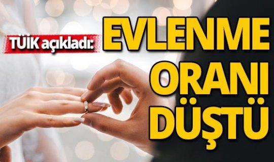 TÜİK açıkladı: Türkiye genelinde evlenme oranı düştü