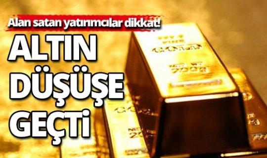 Altının kilogramı 322 bin liraya geriledi