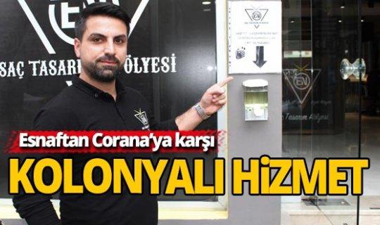 Antalya'da Corana'ya karşı kolonyalı hizmet