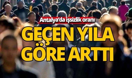 Antalya'da işsizlik oranı açıklandı
