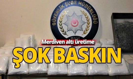 Antalya'da merdiven altı üretim 4 bin 900 maske ele geçirildi
