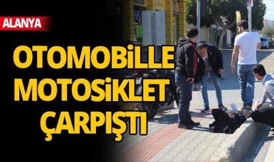 Antalya'da otomobille motosiklet çarpıştı: 1 yaralı