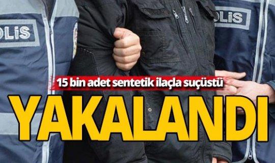 Antalya'da yüklü miktarda sentetik ilaç ele geçirildi