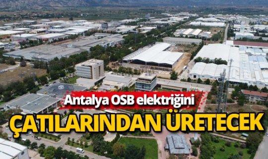 Antalya OSB, elektriğini kendi üretecek