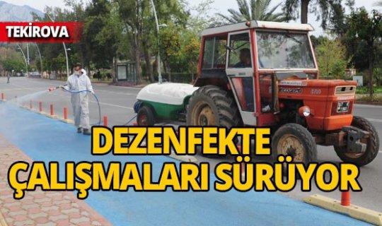 Antalya Tekirova'da dezenfekte çalışmaları sürüyor