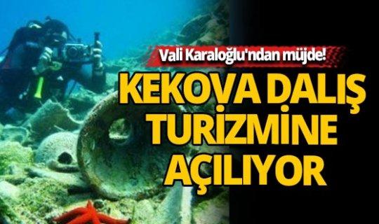 Antalya Valisi Münir Karaloğlu'ndan müjde! Kekova dalış turizmine açılıyor