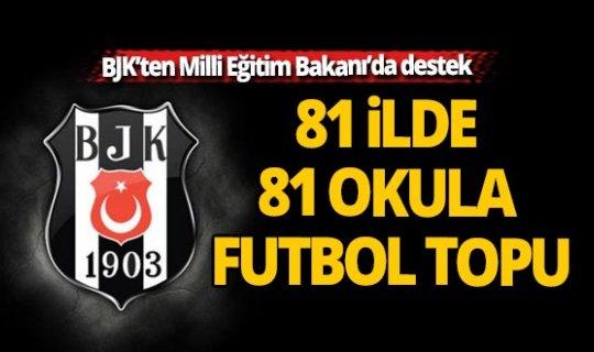 Beşiktaş, 81 ilde 81 okula futbol topu verecek