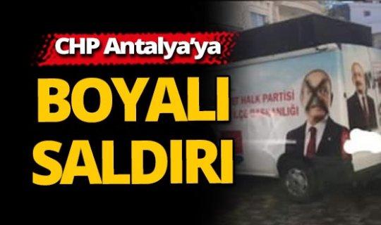 CHP Antalya'da boyalı saldırı