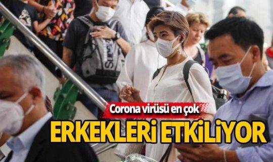Corona virüsü en çok erkekleri etkliyor