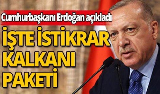 Cumhurbaşkanı Erdoğan KOVİD-19'a karşı Ekonomik İstikrar Kalkanı paketini açıkladı