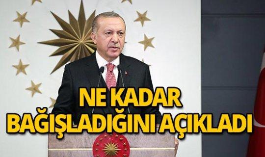 Cumhurbaşkanı Erdoğan Milli Dayanışma Kampanyası'nı kendi bağışıyla açtı!