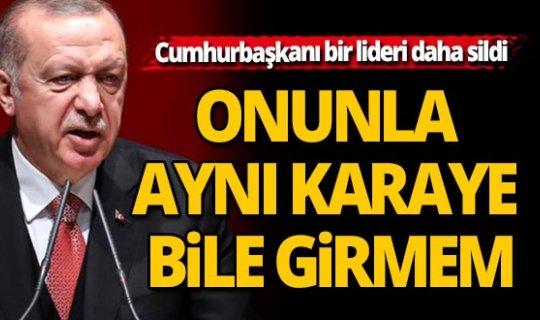 Cumhurbaşkanı Erdoğan rest çekti!