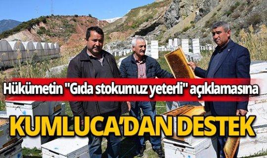 """Hükümetin """"Gıda stokumuz yeterli"""" açıklamasına, Kumluca'dan destek"""