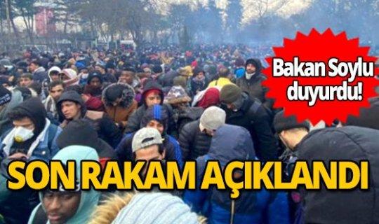 İçişleri Bakanı Soylu Türkiye'den ayrılan göçmen sayısını açıkladı