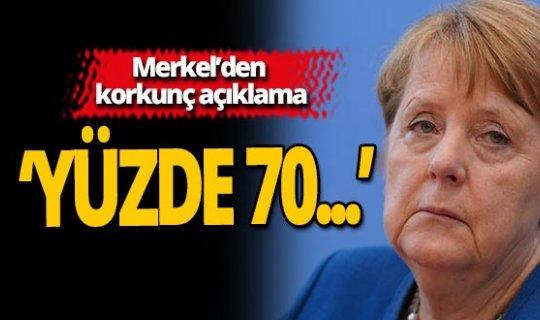 Merkel'den korkunç açıklama!