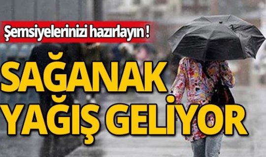 Meteoroloji sağanak yağış için uyardı!