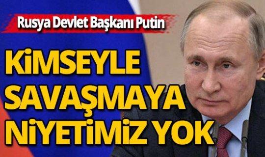Rusya Devlet Başkanı'ndan dikkat çeken açıklama