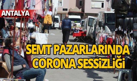 Semt pazarlarında corona sessizliği