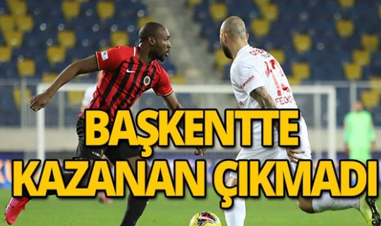 Süper Lig: Gençlerbirliği: 1 - Antalyaspor: 1