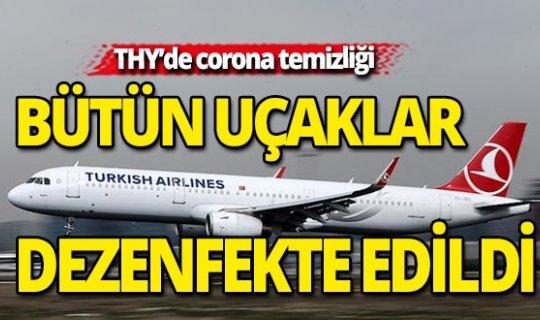 THY uçakları etkili yöntemlerle dezenfekte ediliyor