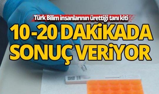 Türk Bilim insanlarının ürettiği 'KİT' 10-20 dakikada sonuç veriyor
