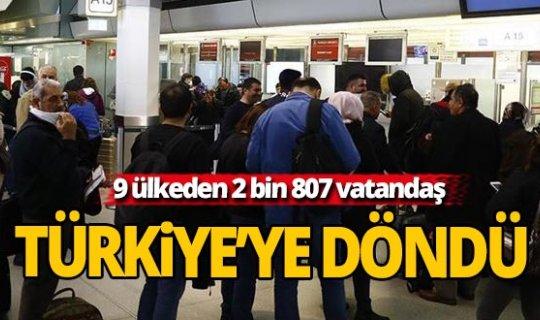 Yurtdışından Türkiye'ye dönmek isteyen vatandaşların tahliyesi tamamlandı