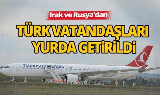 333 Türk vatandaşı yurda geri döndü
