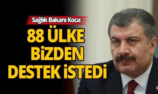 88 ülke Türkiye'den ekipman desteği talep etti