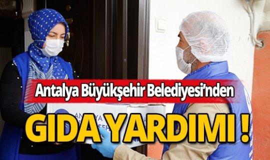 Antalya Büyükşehir Belediyesi'nden evlere gıda yardımı!
