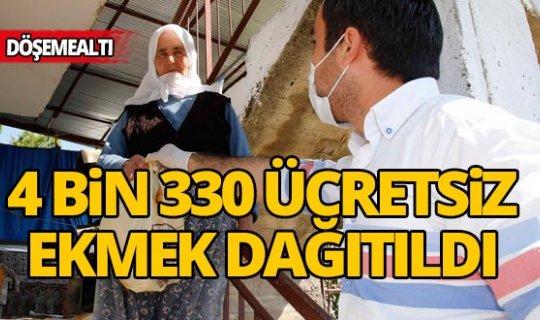 Antalya'da 4 bin 330 ücretsiz ekmek dağıtıldı