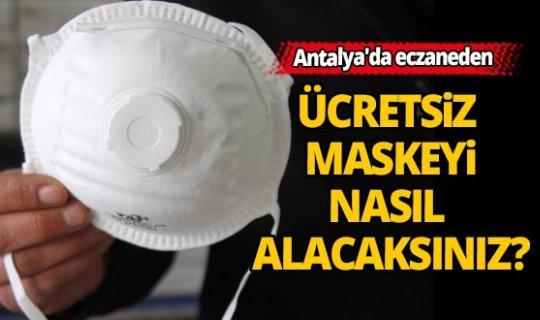 Antalya'da eczaneden ücretsiz maske nasıl alınır?