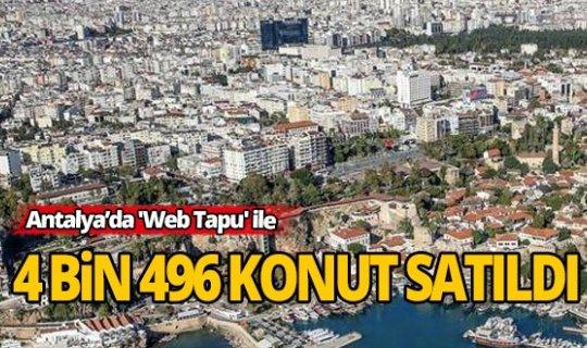 Antalya'da evden çıkmadan 'Web Tapu' ile konut satışı