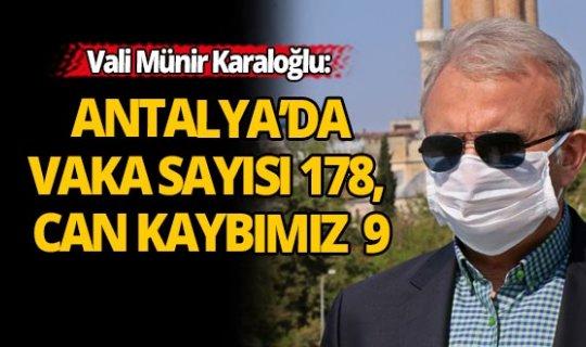 Antalya'da korona vaka sayısı 178, 9 kişi de hayatını kaybetti