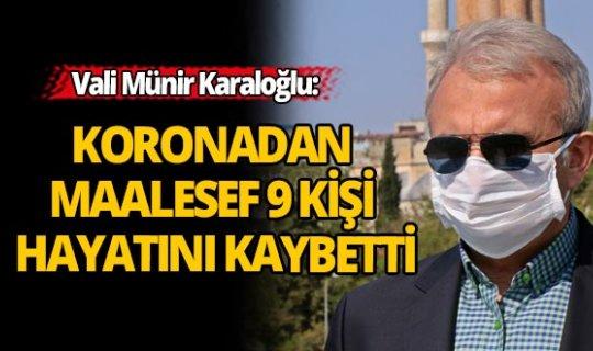 Vali Karaloğlu Antalya'da Coronavirus son durumu açıkladı: 178 vakanın 9'u yaşamını yitirdi.