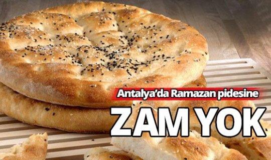 Antalya'da ramazan pidesine zam yok