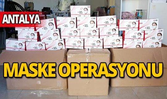 Antalya'da sahte maske operasyonu