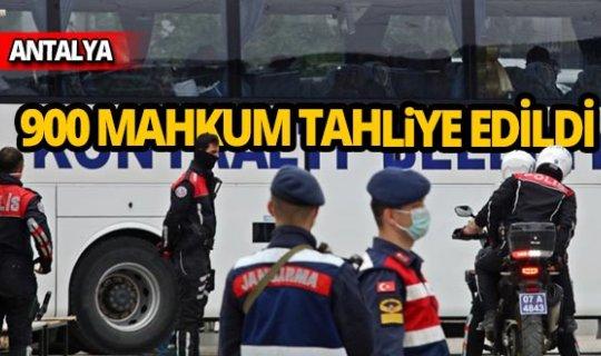 Antalya'da 900 mahkum tahliye edildi