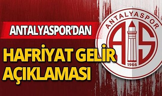 Antalyaspor'dan hafriyat iddialarına açıklama!