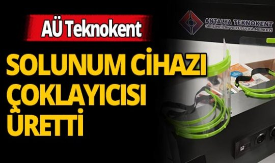 AÜ Teknokent Solunum Cihazı Çoklayıcısı üretti