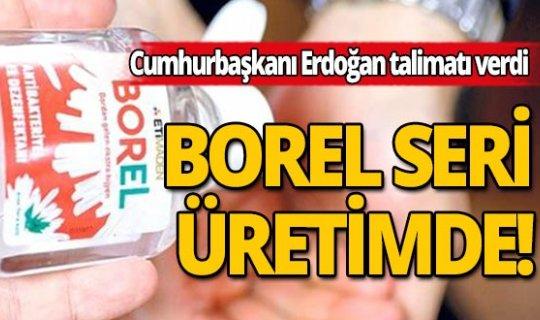 """Bakan Fatih Dönmez: """"Bor katkılı el dezenfektanımızBORELseri üretimde"""""""