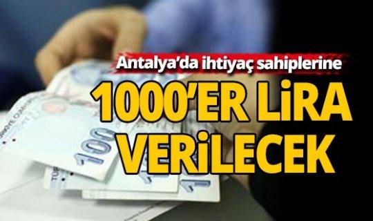 Bakanlık Antalya'da ihtiyaç sahiplerine ödeme yapacak