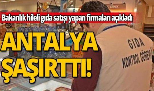 Bakanlık hileli gıda satışı yapan firmaları açıkladı: Antalya şaşırttı!