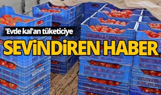 'Evde kal'an tüketiciye sebze ve meyve fiyatlarında sevindiren haber